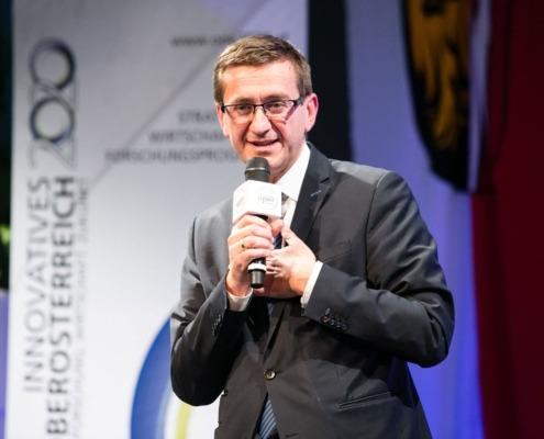 Markus Achleitner auf der Bühne