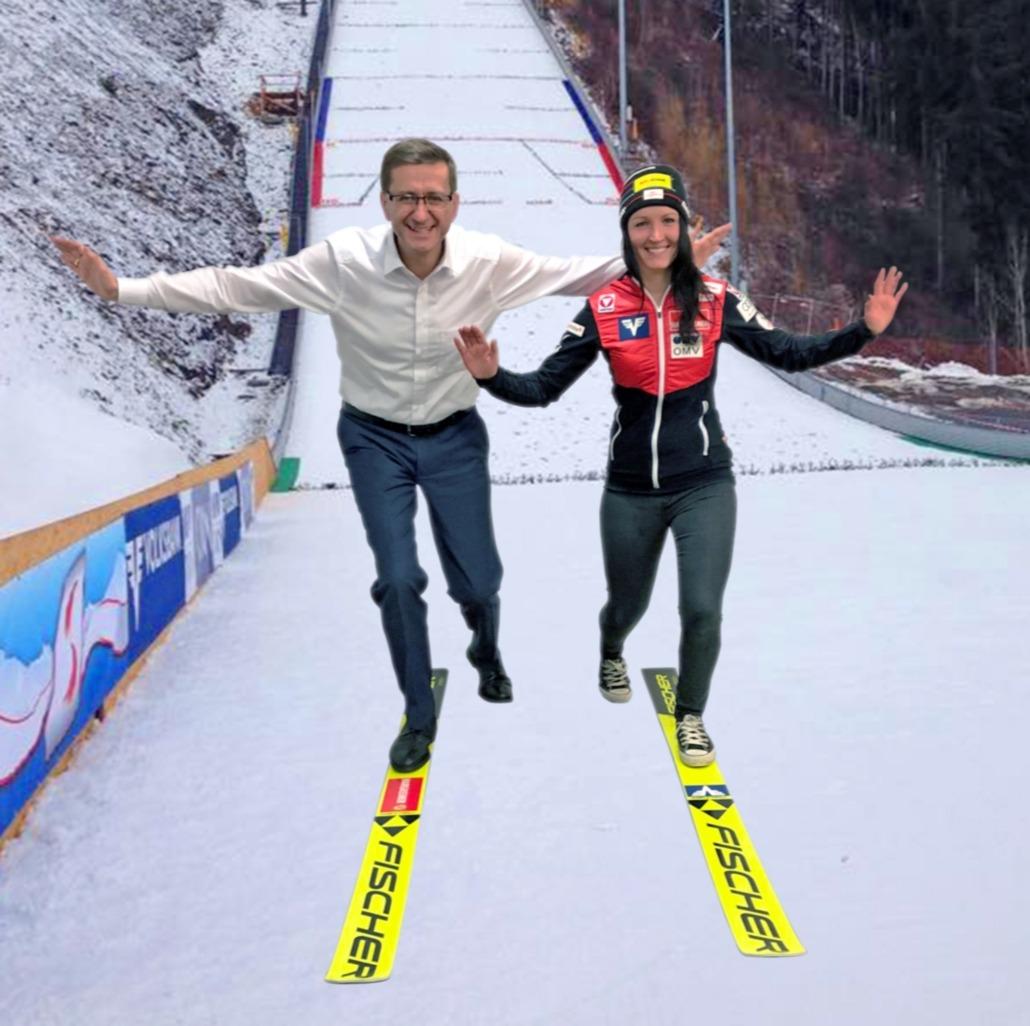 Skispringerinnen